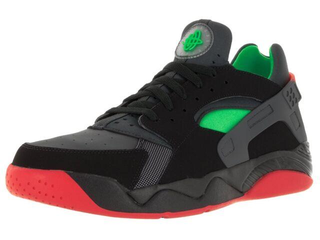 huge discount cc52e d51b2 Nike Flight Huarache Low Men s Size 8.5 (819847-001) BLACK GREEN