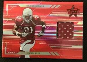 Details about ANTREL ROLLE AUTHENTIC CERTIFIED GAME USED JERSEY CARD ARIZONA CARDINALS 38/99