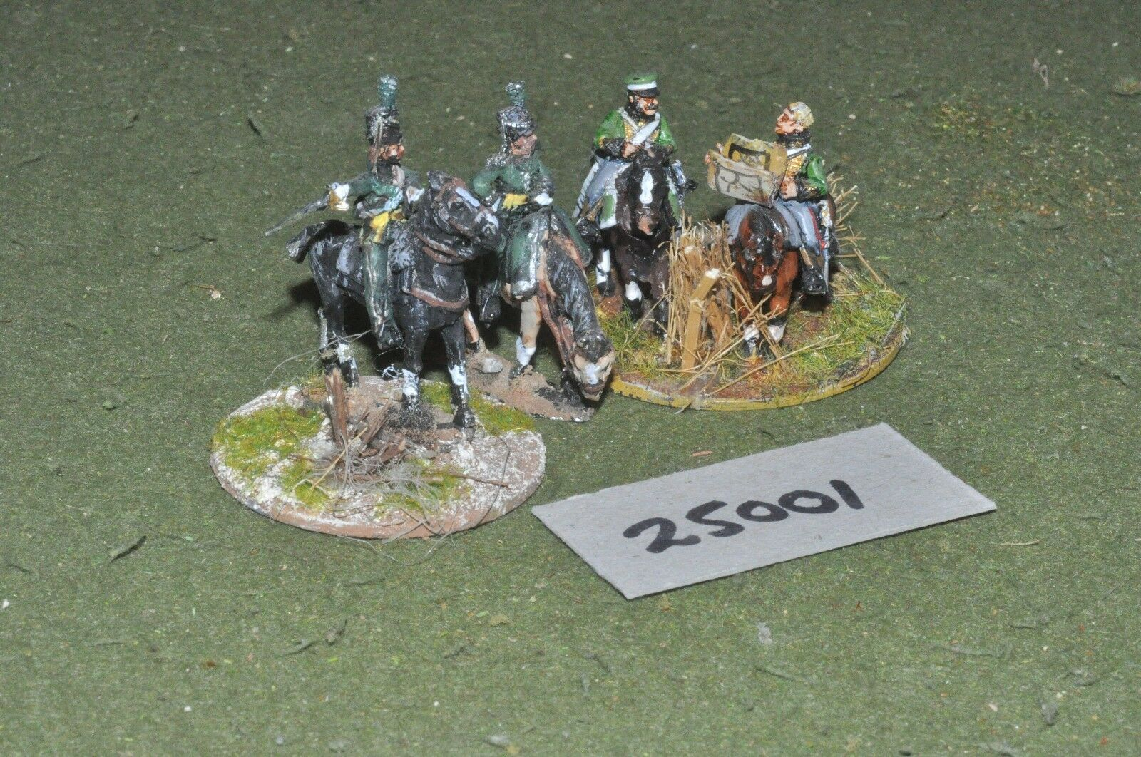 25mm napoleonic   dutch-belgian - officers 4 figures - command (25001)