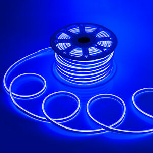 Wyzworks blue flexible waterproof soft double sided led neon rope image is loading wyzworks blue flexible waterproof soft double sided led aloadofball Image collections