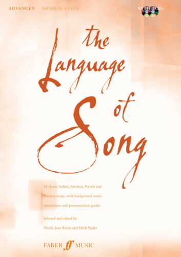 The Language Of Song Medium Voice Classical Piano Vocal FABER Music BOOK /& CD