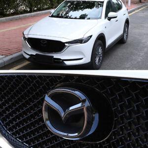Carbon-Look-vorne-amp-hinten-Heckklappe-Emblem-ABS-Chrom-fuer-Mazda-CX-5-KF-ab-2017