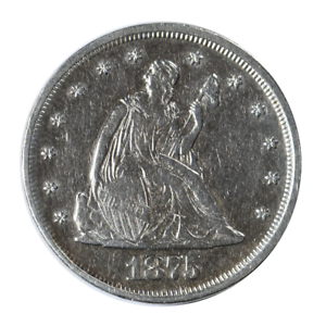 1875-Seated-Liberty-Twenty-Cent-Piece-Very-Fine-Condition