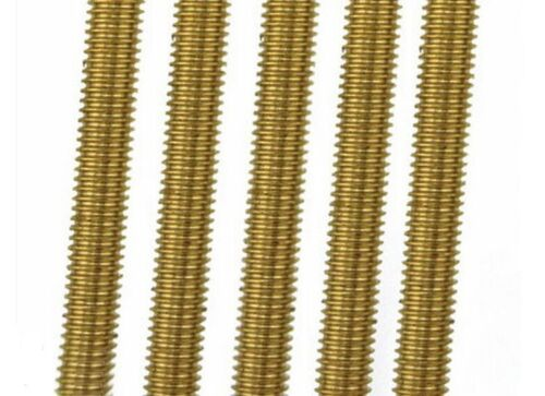 Brass Threaded Rod Brass Screw Rod Full-Threaded M2 3 4 5 6 8 10 12 14 16
