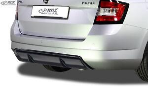 RDX-Heckdiffusor-SKODA-Fabia-3-NJ-Combi-Diffusor-ABS-schwarz-glaenzend-Ansatz