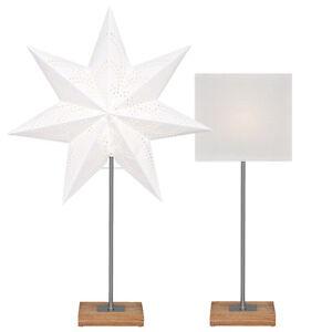 nachttisch weihnachtsstern papier stern weihnachten lampe. Black Bedroom Furniture Sets. Home Design Ideas