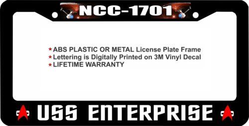 Star Trek NCC 1701 USS ENTERPRISE Custom License Plate Frame Parts ...
