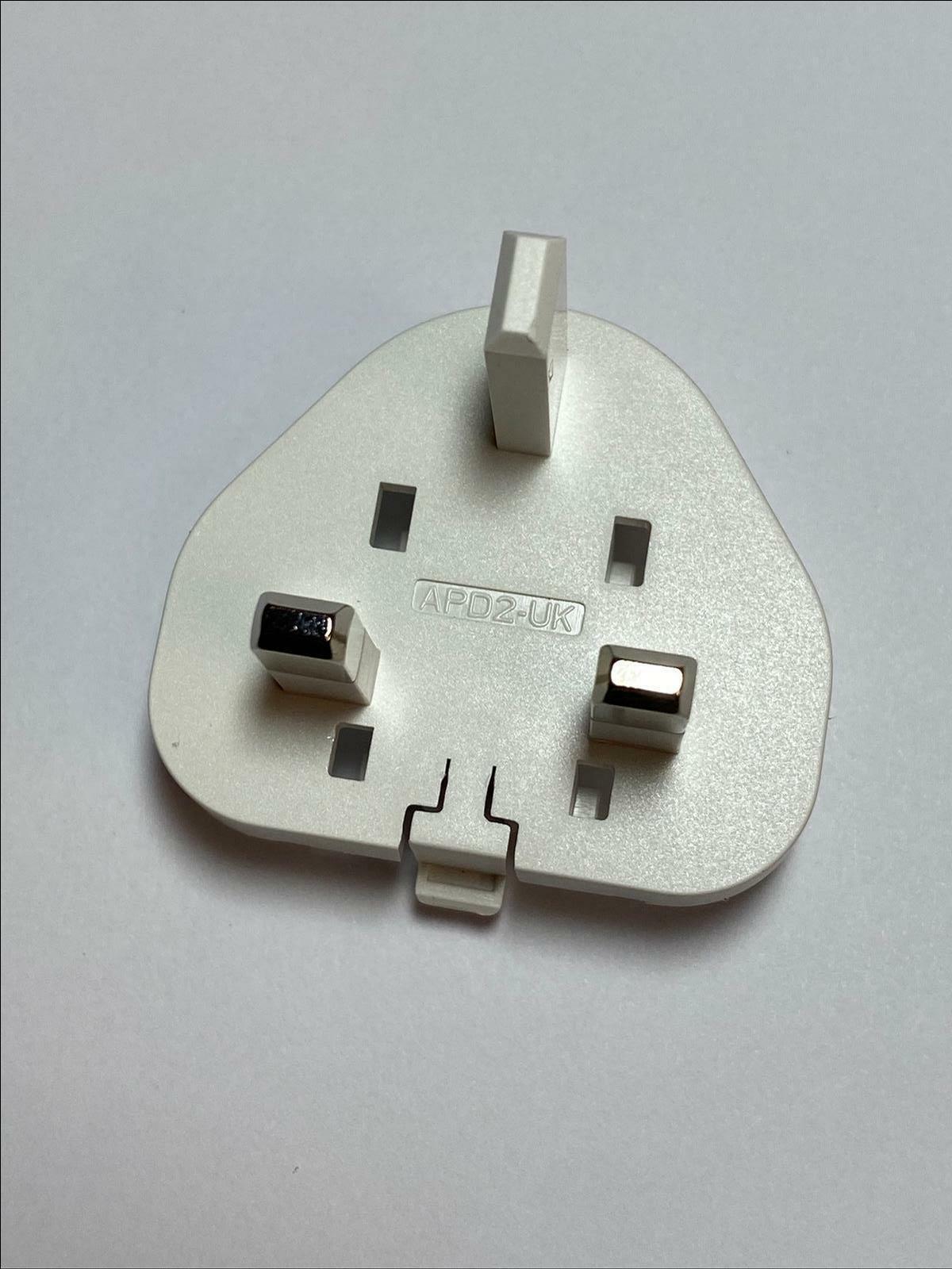 White UK Slide Attachment Plug for APD 5V 3A WA-15I05R APD2-UK APD2UK