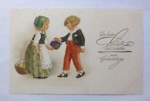 Geburtstag, Kinder, Mode, Blumen,  1930 ♥  (59475)
