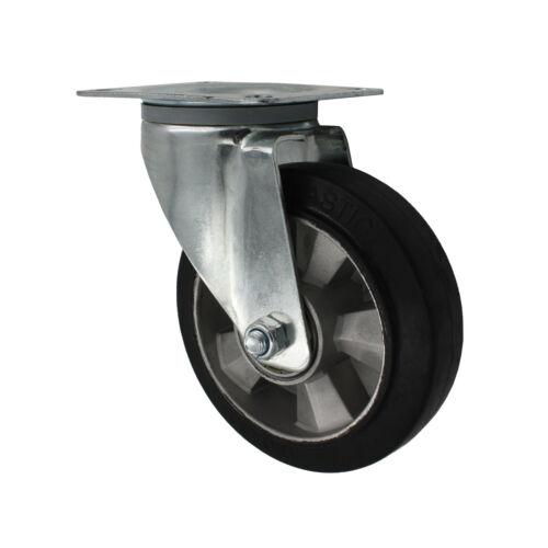 Mittel Schwerlastrollen Lenkrollen mit Bremse Bokrolle Transportrolle Elastikrad
