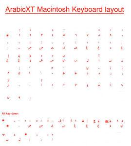 Arabic Overlays Stickers for Macintosh Mac Keyboard