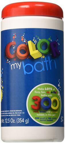 Color My Bath 300-Piece Water Colour Changing Bath Tablets