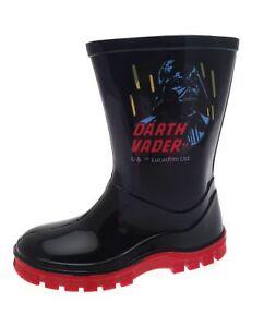 Schuhe Für Jungen Niedrigerer Preis Mit Boys Black Darth Vader Wellingtons By Unbranded Retail Price £7.99