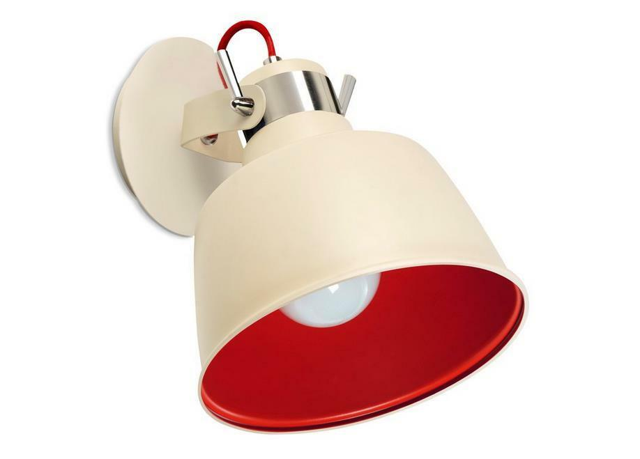 La or creu HOMOLOGUE or La wall Vintage Light Old White and Red 2573fe