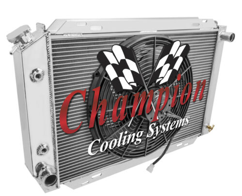 "1980-1988 Ford Thunderbird 3 Row Advanced Champion Aluminum Radiator w 16/"" Fan"