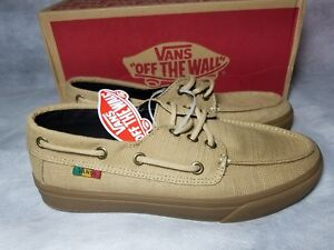d74a7f0cc28 New Vans Chauffeur SF Rasta Hemp Brown Gum Vault Boat Skate Shoe Men ...