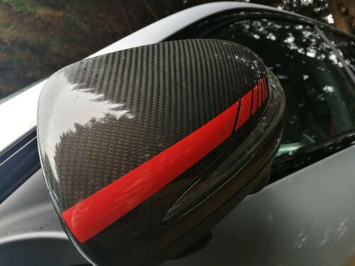 Vinyl Decal W205 C-Class Mercedes C63 Edition 1 Style Wing Mirror Cap Stripes