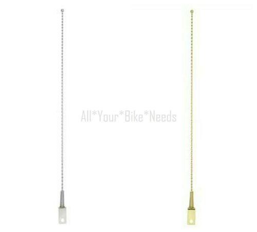 ORIGINAL Lowrider Twisted Antenna in Chrome or Gold Lowrider Bicycle Parts