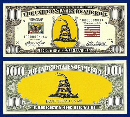 W//clear protector sleeve Z3 1-Tea Party Don/'t Tread On Me Dollar Bill  Party