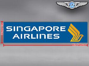 SINGAPORE AIRLINES RECTANGULAR LOGO STICKER / DECAL