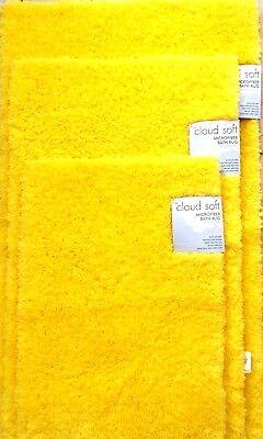 New Cloud Soft Bright Yellow Microfiber Bath Rug Carpet Flo Or Mat Small Medium Ebay