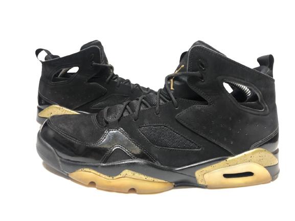Nike Air Jordan Flight Club 91, Men's Black Gold Basketball Shoes, Size: 10.5 🔥