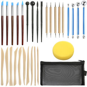 30pcs Ball Stylus Dotting Tools Polymer Modeling Clay Sculpting Rock Painting