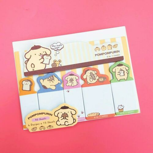 90 SHEETS Japanese Pompompurin Kawaii Pastel Yellow Dog Sticky Memo Notes Pad