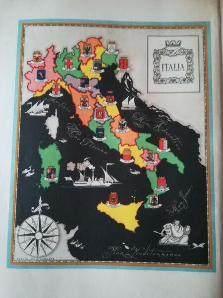 '50 N. 3 Vecchie Cartine Italia - Politica - Nel 1945 Dopo La Guerra - Nel 1950