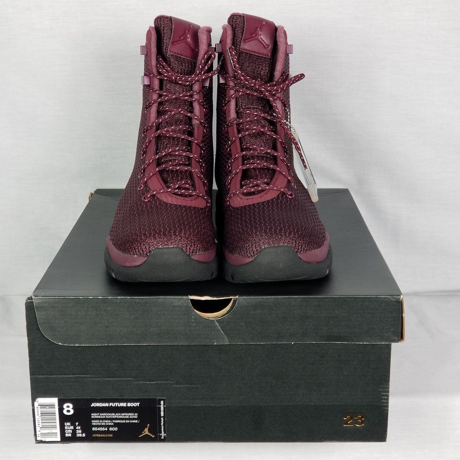 Nike Air Jordan Future Boot Size 8 Maroon Burgundy Red Black SFB 854554-600