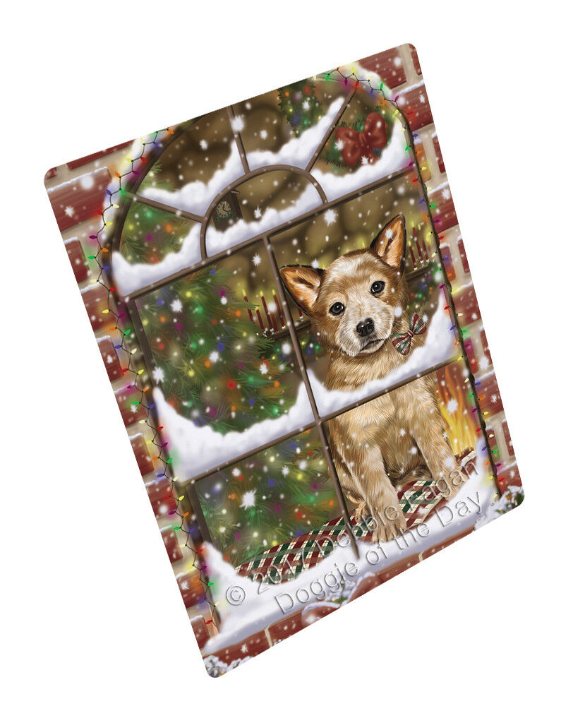 Come Home For Christmas Australian Cattle Dog Woven Throw Sherpa Blanket T238