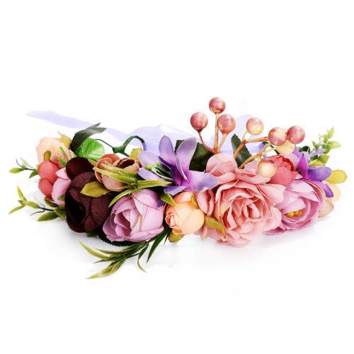 Hippie Haarband Haarblume Kranz Blüten geflochten Stirnband Festival Hochzeit