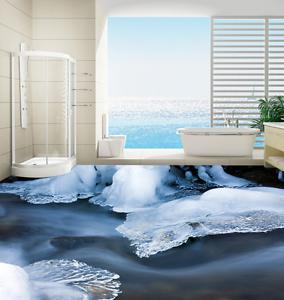 Hielo transparente 3D 74 Impresión De Parojo Papel Pintado Mural de piso 5D AJ Wallpaper Reino Unido Limón