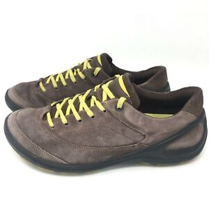 8fb92774d0e ECCO Women s Biom Grip Leather Sneakers Shoes Brown Size 37 US 6 6.5 ...