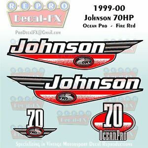 Johnson 40hp OceanPro Decals