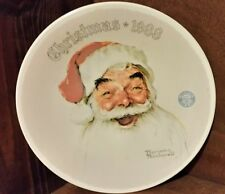 Norman Rockwell Christmas 1988 Plate With COA Santa Claus