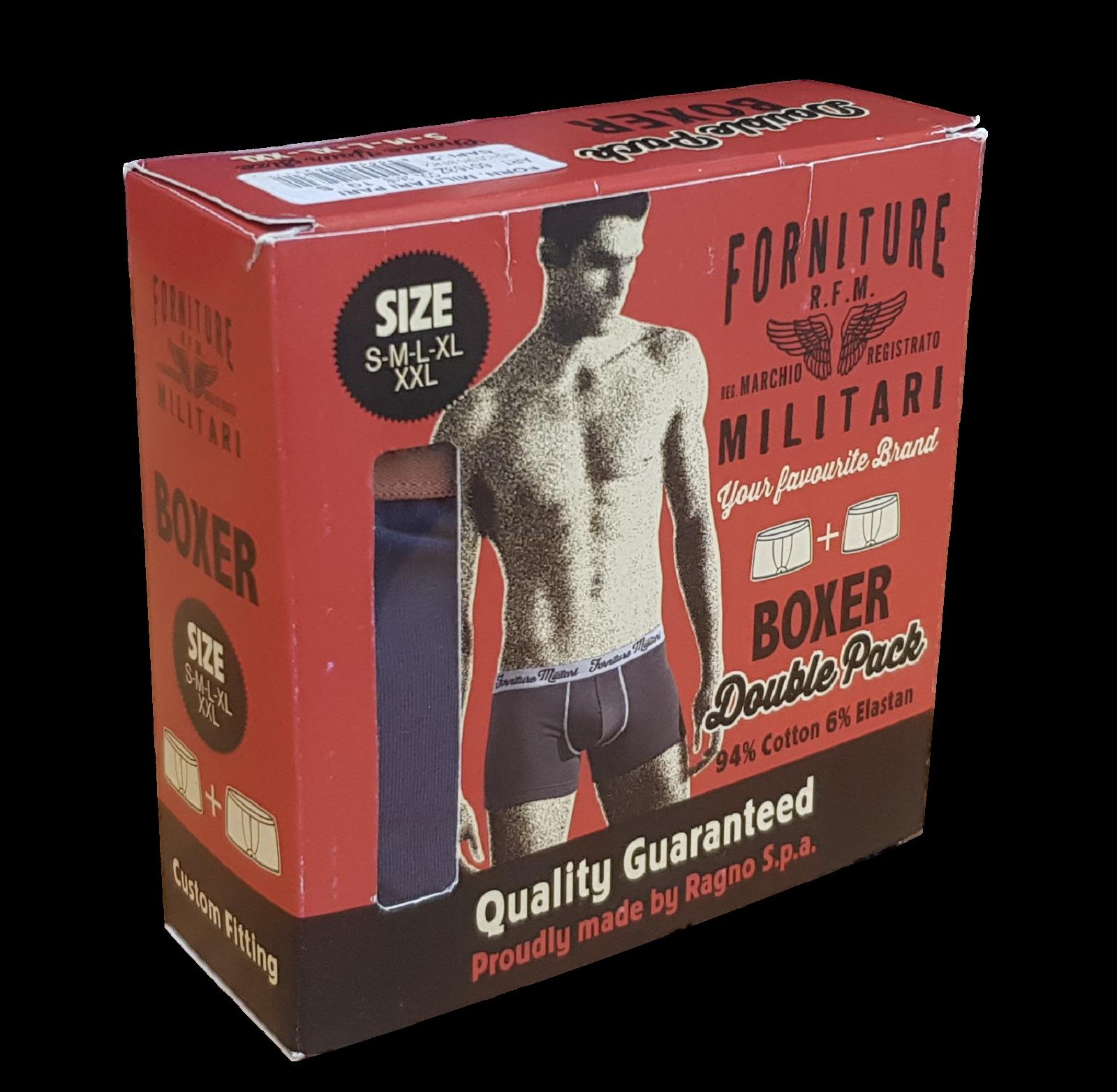 2 pezzi Boxer uomo FORNITURE MILITARI by Ragno Confezione Double pack 60214Z