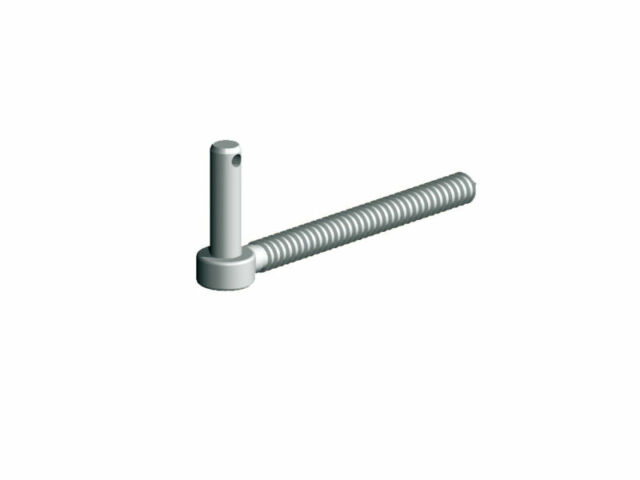 """Hook To Screw 9/"""" 19mm Pin Diameter Galvanised Gate Hanging Ironmongery"""