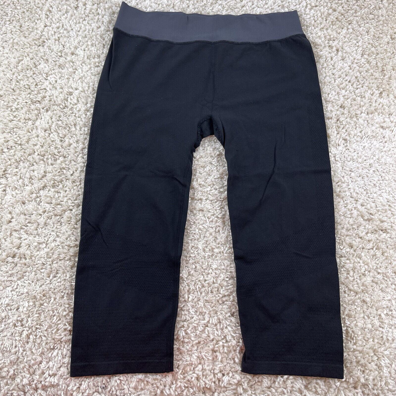 c9 champion duo dry womens large solid black cropped capri leggings athletic