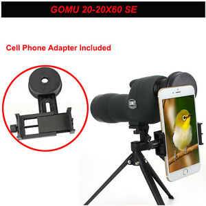 GOMU-20-60x60-Focus-Monocular-Telescope-Spotting-Scope-amp-adjustTripod-amp-Phone-Holder