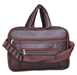 Ghelonadi Vegan Leather Shoulder Sling Laptop Messenger Bag For Unisex