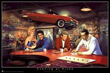 GEORGE BUNGARDA ~ EVENING AT RICK'S 22x34 POSTER Marilyn Monroe James Dean Elvis
