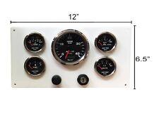Perkins Engine 4.108 & 4.107 Instrument Panel, 5 Gauges, Wired Terminal Strip