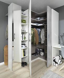 Eckkleiderschrank jugendzimmer  Welle Concrete Eckkleiderschrank weiß Eck Kleiderschrank ...
