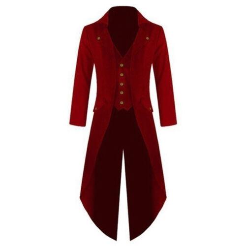 Hommes Vintage tuxedo queue Veste Manteau à manches longues steampunk gothique Manteau uniformes