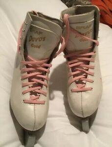 Graf-Davos-Gold-Ladies-Figure-Skating-Boots-Size-5