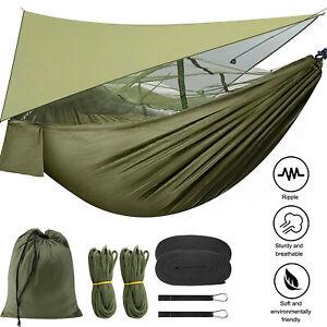 Portable Camping Hammock Tent Mosquito Net Nylon Travel Outdoor Sleeping Swing B