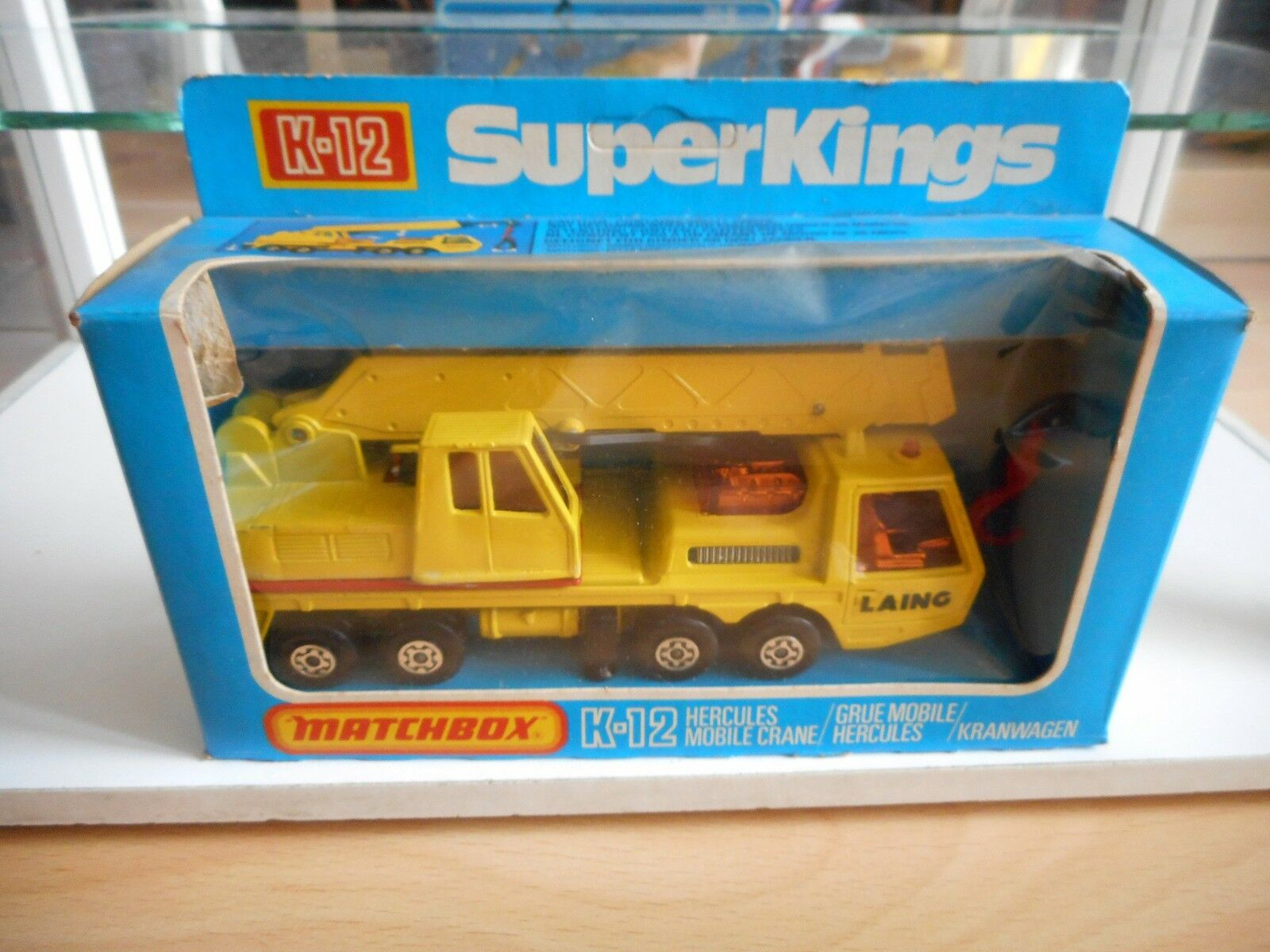 Matchbox Superkings Hercules Mobile Crane in Yellow in Box (MB nr  K-12)