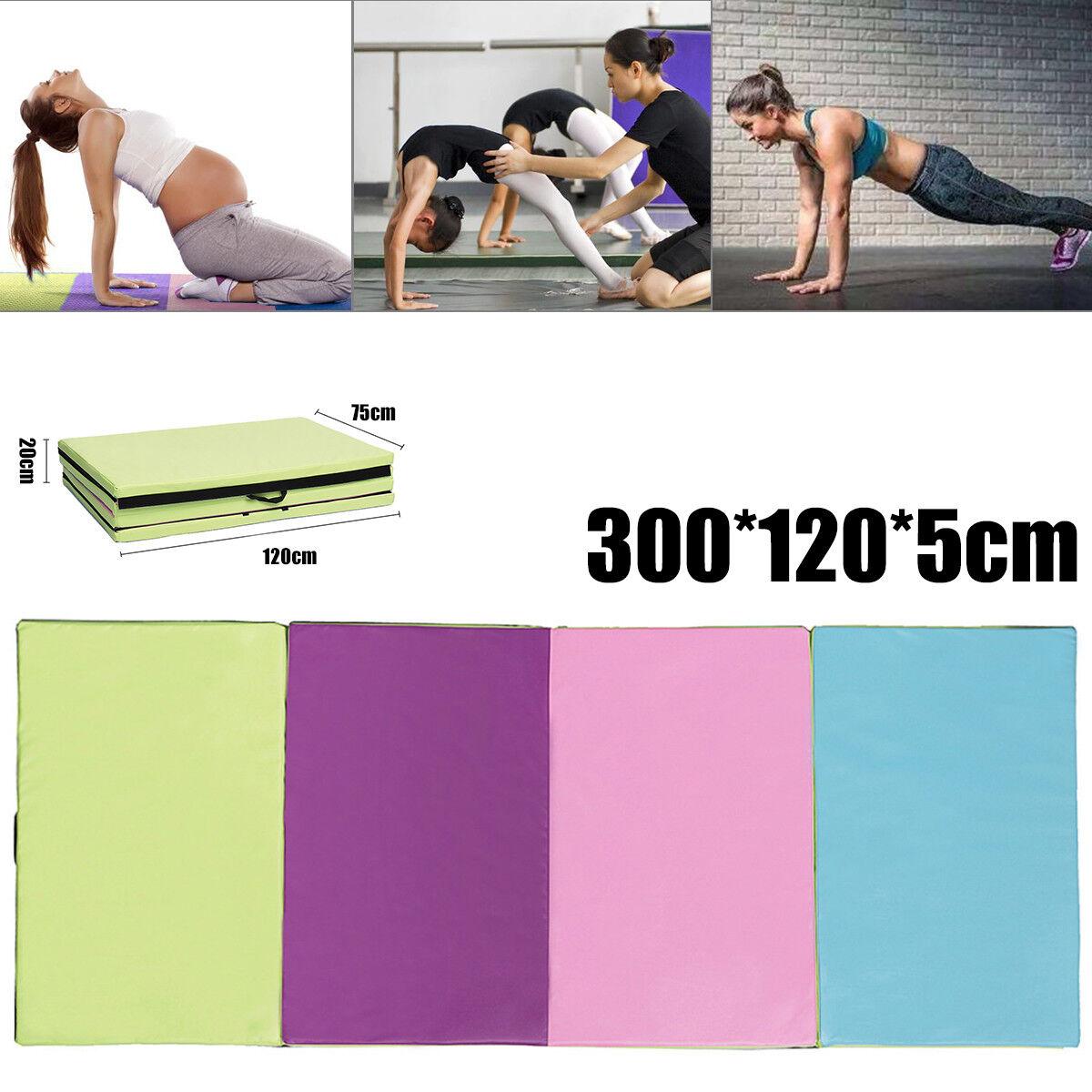 Gymnastics Exercise Folding Mat Training Workout Padded Non Slip Yoga Gym Mats