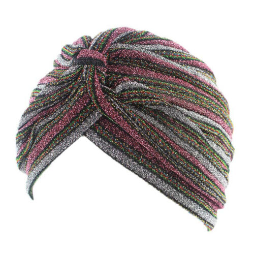 Piper Royal Style Glitter Turban Slip On Cancer hat by Chemo hats
